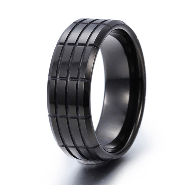 9MM Black Pure Tungsten Carbide Ring Mens Wedding Bands Alliance