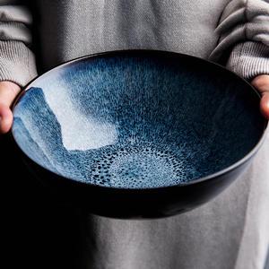 Porcelain-Bowl Salad Desserts Kiln-Glazed Rice-Noodles Japanese-Style Cereal Retro Ceramic