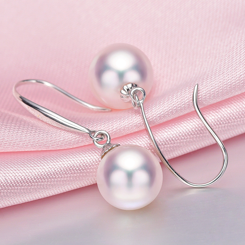 [YS] Hot Sale Classic Style Earring 7.5-8mm Japanese Akoya Pearl Drop - Fine Jewelry - Photo 5