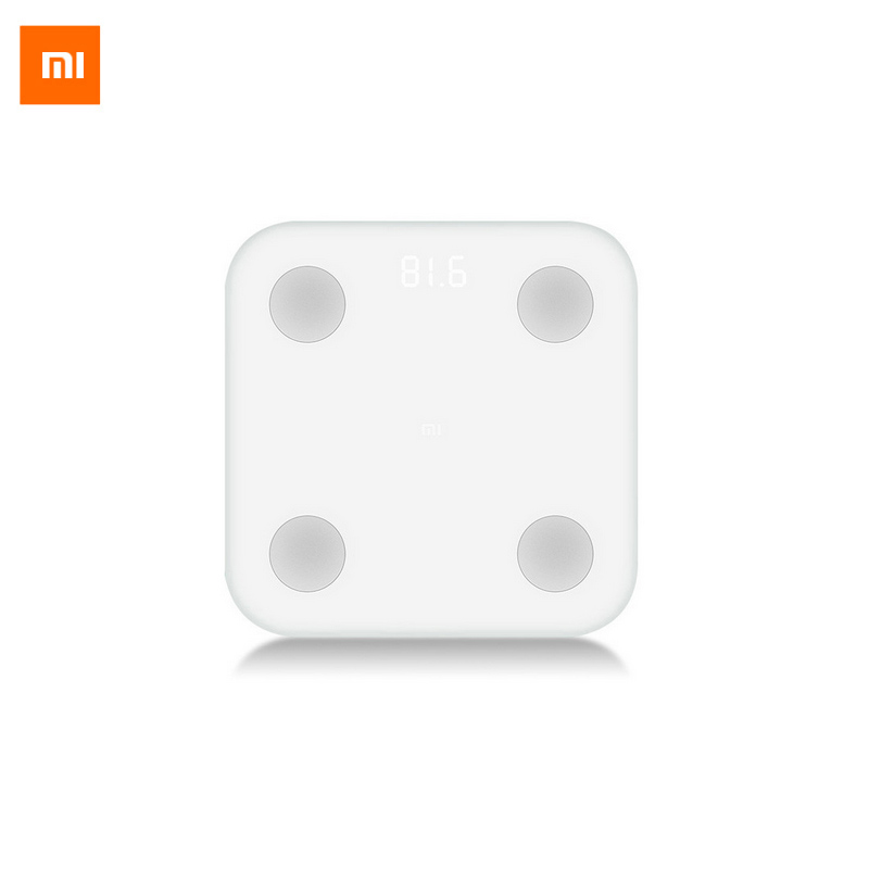 Nueva Escala de Grasa Corporal Xiaomi Mi Smart Original con APLICACIÓN Mifit y Monitor de Composición Corporal con Pantalla LED Oculta y Almohadilla para Pies Grandes