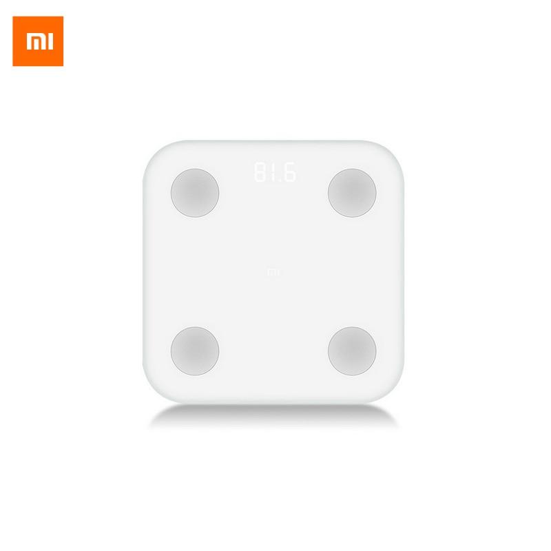 Baru Asli Xiaomi Mi Skala Lemak Tubuh Pintar Dengan Mifit APP & Monitor Komposisi Tubuh Dengan Layar LED Tersembunyi Dan Kaki Besar