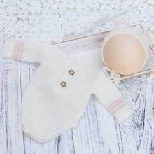 Newborn Baby Mickey hat+clothes Photography props infant Lovely handmade crochet 2pcs suit studio clothing crochet newborn baby photography clothes set