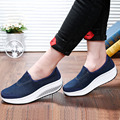 2016 Women's Casual Shoes Fashion Height Increasing Walking Shoes for Women Swing Wedges Shoes Wild Platform Breathable Shoes