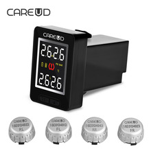 CAREUD U912 With 4 Built-in Sensors Car TPMS Wireless Auto Tire Pressure Monitoring System Squar LCD Embedded Monitor For Toyota