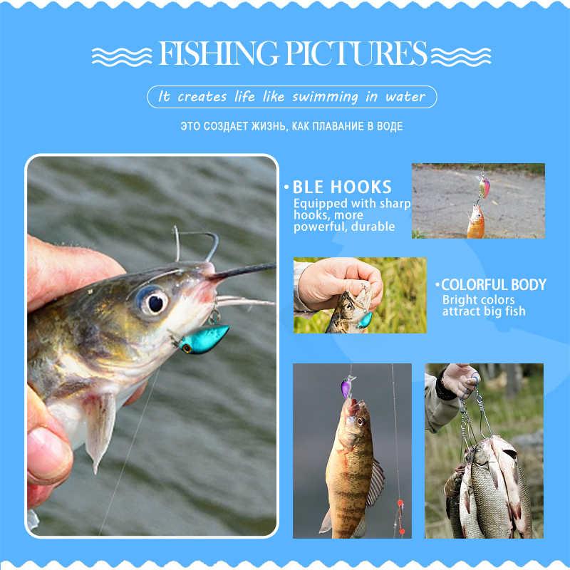 DONQL 5/8/10pcs Colori Misti Set di Richiamo di Pesca Minnow Esche Kit Wobbler Crankbaits con la Scatola Treble ganci Attrezzatura Da Pesca Con Esche duro