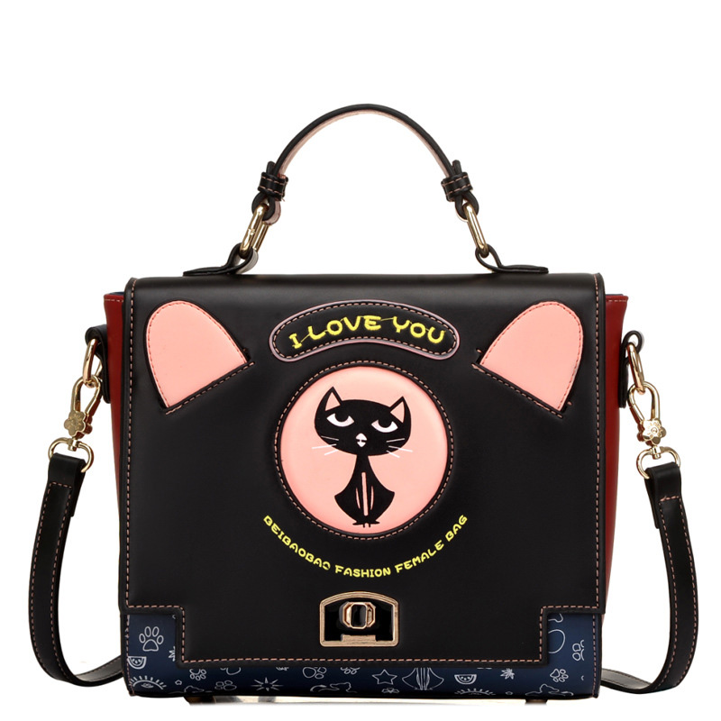 New Cartoon Printing Women Bag Female PU leather Crossbody Shoulder Bags Girls Messenger Bag Bolsa Feminina SS0141 shoulder bag pu leather women messenger bags bolsa feminina sac high quality crossbody bag for ladies female girls double zipper