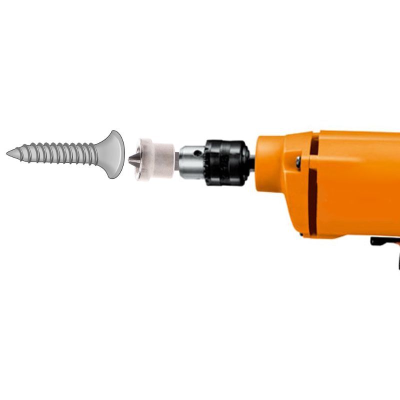 10pcs 25mm Long Depth Stop Plasterboard Drywall Bit Screws Locating Bits PH2 HEX Screwdriver Drywall Bits Screwdriver Bits Tool