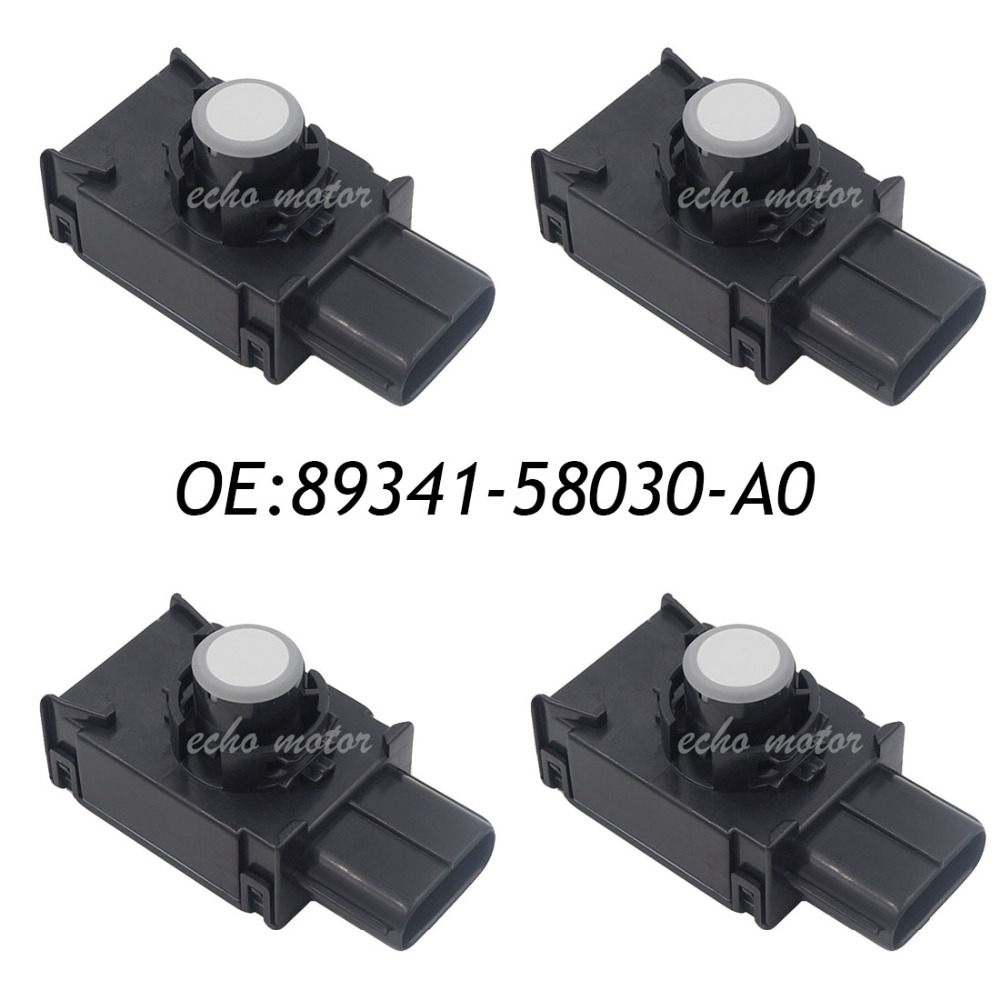 New 4PCS 89341-58030-A0 Parking Distance Control PDC Assist Sensor For Toyota Alphard Vellfire 2.4L 3.5L 89341-58030 89341580300 цена 2017