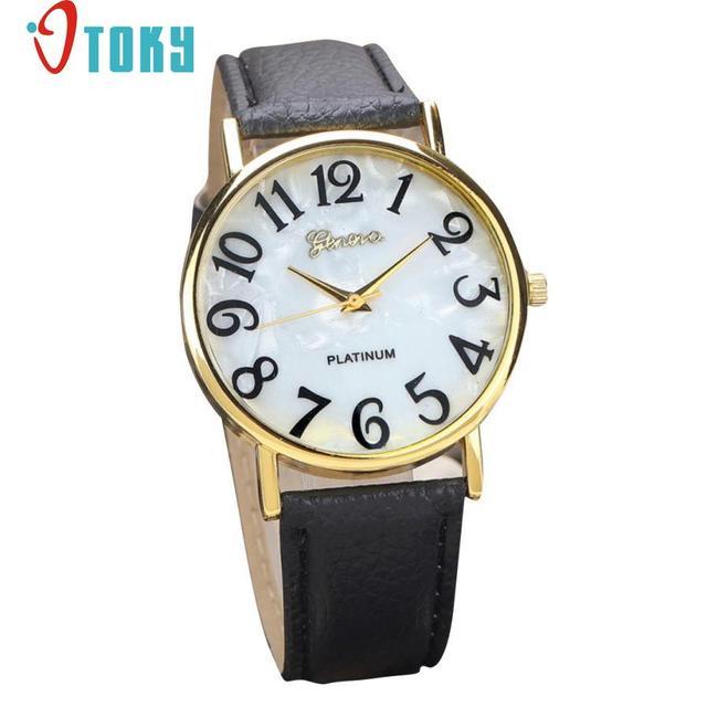 Hot Hothot Sales Women Retro Digital Dial Leather Band Quartz Analog Wrist Watch Watches,Girl,Alloy,,round,luxury jy28