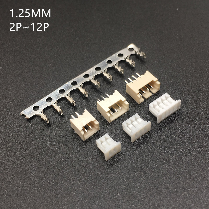 10sets MICRO JST 1.25 2/3/4/5/6 pin connector 1.25MM PITCH Horizontal Straight pin header + Housing + terminal 1.25-2p/3p/4p/5p 10sets MICRO JST 1.25 2/3/4/5/6 pin connector 1.25MM PITCH Horizontal Straight pin header + Housing + terminal 1.25-2p/3p/4p/5p