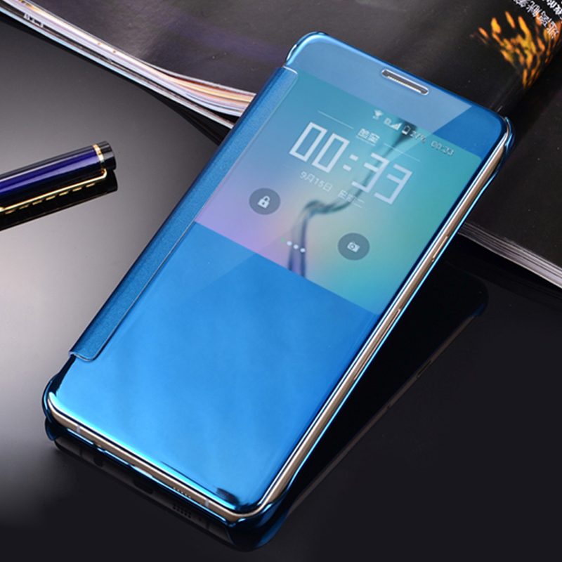 Mirror smart clear view cover for samsung galaxy j5 j500 for Miroir 9 cases