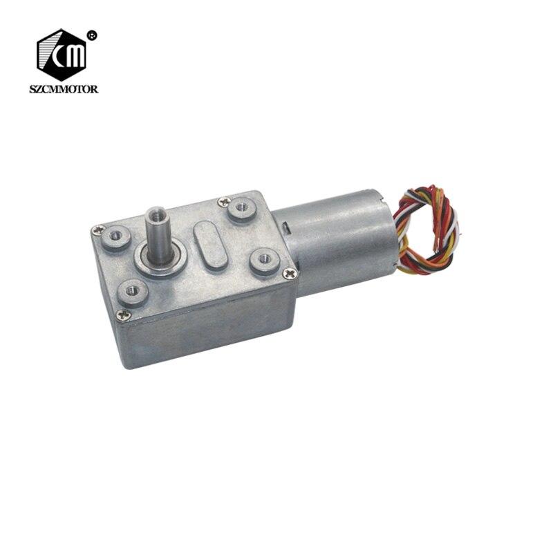 Freies Verschiffen 12 v 24 v 2 rpm zu 150 rpm BLDC Motor Starke Drehmoment Wurm Ausgerichtet Motor Minderer Bürstenlosen getriebe motor mit bremse