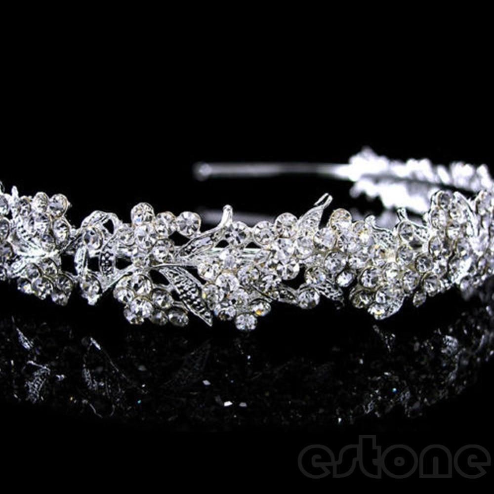 Hot Mode Menakjubkan Sekejap Penuh Kristal Bunga Daun Pernikahan - Perhiasan fashion - Foto 2