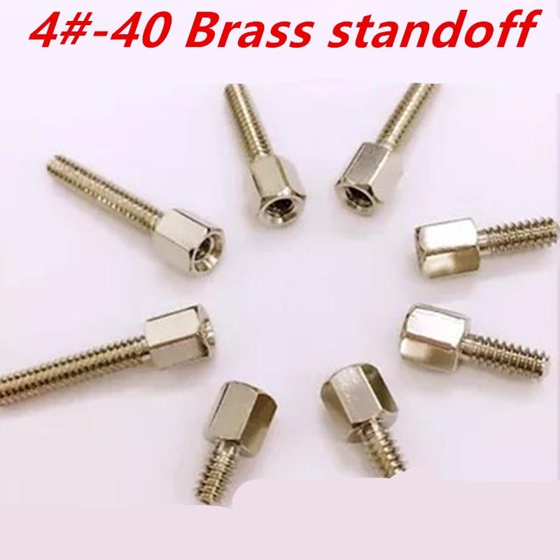 "2BA  x 5//8/"" Hex Head Screws  Brass nickel plated x 10"