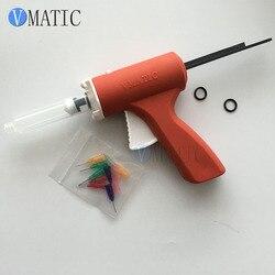 Envío Gratis 10cc 10 ml de plástico de fundente de soldadura/pistola flujo/pistola de calafateo para aceite verde/soldadura, jeringa arma