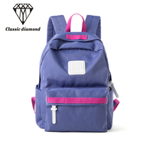 6 Candy Color Woman Backpack School Bags For Girls Nylon School Backpacks For Teenager Female Laptop
