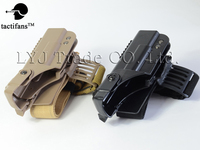 Tactifans Molle Guns Coldre Pistol Holster Glock 17 18 19 Holster Vertical leg Set for Glock17 Black light Brown Right Hand