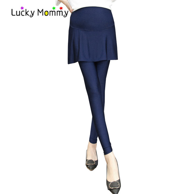 9f0ba0bdd7d45b 3 Colors Maternity Leggings Pants Stretch Slim Pregnancy Clothes High-waisted  Belly Care Maternity Clothing M-XXL