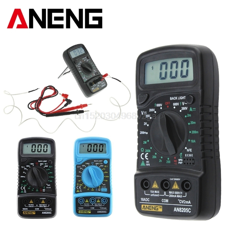AN8205C Thermometry Digital Multimeter Voltmeter Ammeter AC DC OHM Volt Tester D21 DropShipping