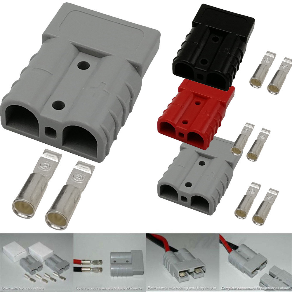 1 PackNew Hot 50 Amp for Plug Power Pole Electrical Charger Battery Connector usb adapter Drop Shipping milwaukee electric tool corporation