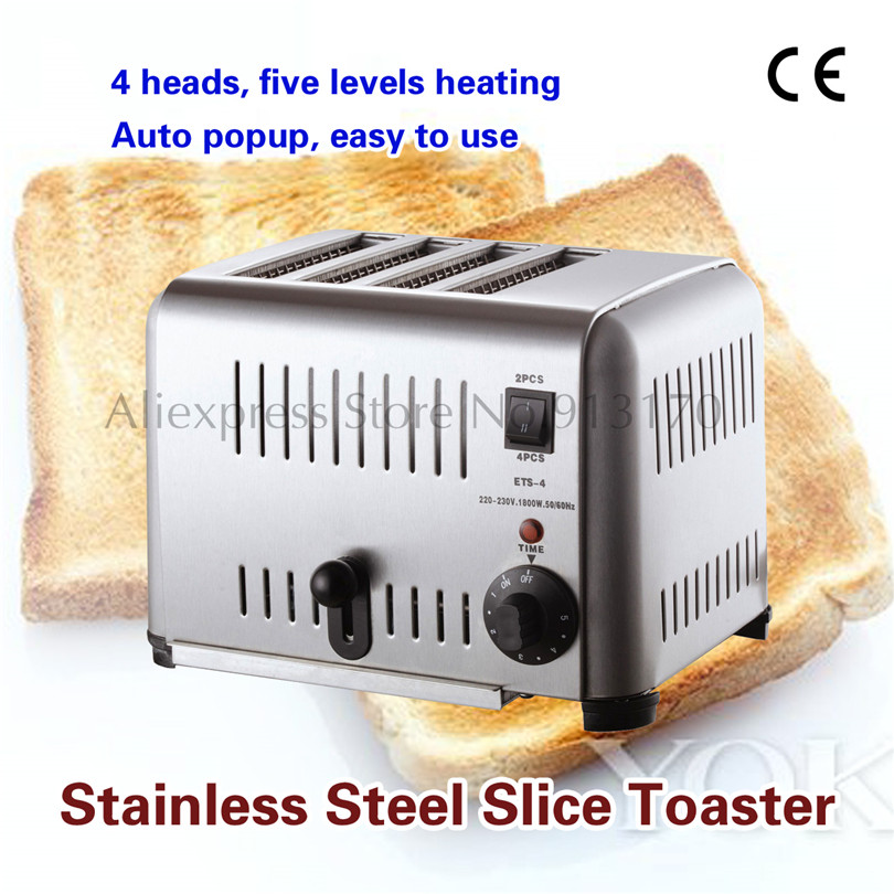 4-Slice Commercial Toaster Stainless Steel Bread TOASTER Kitchen Appliances Breakfast New kitchen slice of bread cake separators white green 2 pcs