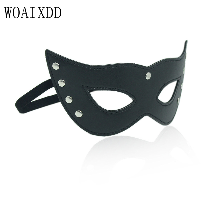 Adult Diary 3D Blindfold Adult Games BDSM Bondage Erotic Sex Toys, Black Shield Light Sleeping Eye Mask Sex Tools for Men Woman image