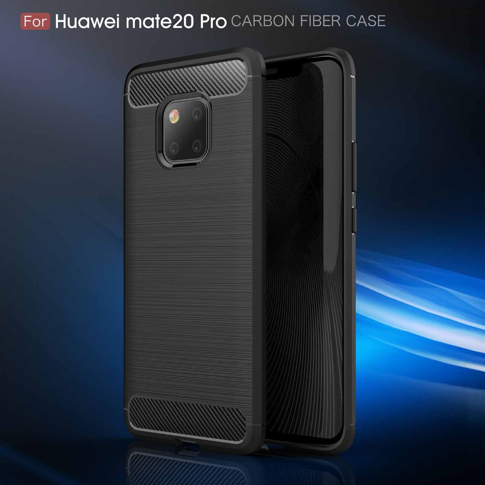 Cases For Huawei Mate 20 Pro Lite Case Luxury Carbon Fiber Soft Cover For Honor 8X Max Case For Huawei P10 20 Y6 Y9 2018
