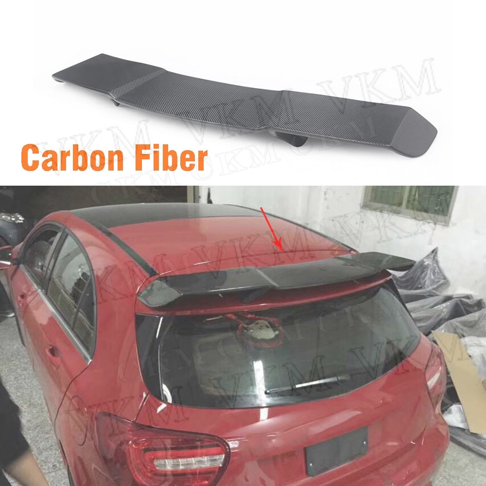 Carbon Fiber <font><b>Rear</b></font> Roof <font><b>Spoiler</b></font> Wings <font><b>A</b></font> <font><b>Class</b></font> for <font><b>Mercedes</b></font> Benz <font><b>W176</b></font> <font><b>A</b></font> <font><b>Class</b></font> A200 A260 A45 AMG 2014-2018 Car Styling FRP Black image