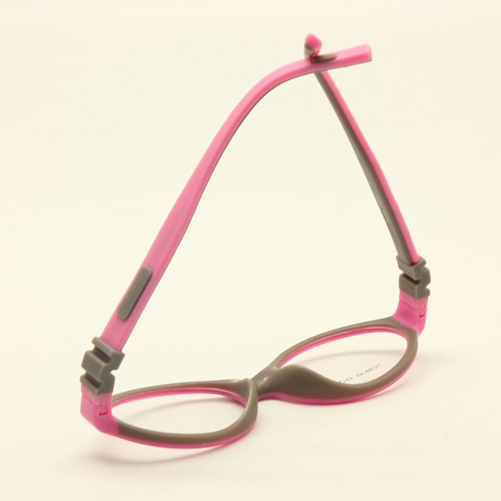 Image 3 - Silicone Glasses Frame Size 45mm No Screw Safe Flexible Optical Bendable Kids Eyeglasses Boys Girls-in Men's Eyewear Frames from Apparel Accessories