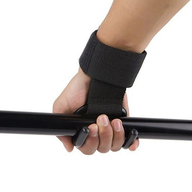 Ourpgone Brand New Weight Lifting Hign Quality Training Gym Hook Grip Straps Gloves Wrist Support Lift Black Dropshipping!