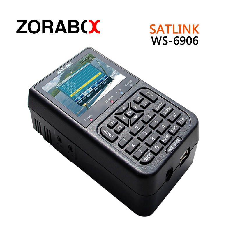 [Genuine]satellite finder satlink ws-6906 signal search meter 6906 3.5 inch High definition TFT LCD Display DVB-S finder anewkodi original satlink ws 6906 3 5 dvb s fta digital satellite meter satellite finder ws 6906 satlink ws6906