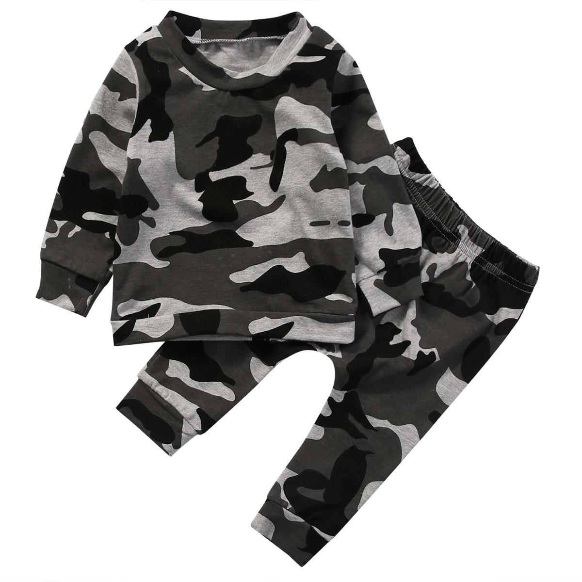 2 Stücke Neugeborenen Kleinkind Kind Jungen Mädchen Kleidung T-shirt Tops + Pants Outfits Set Kostüme Für Babys Zu Verkaufen