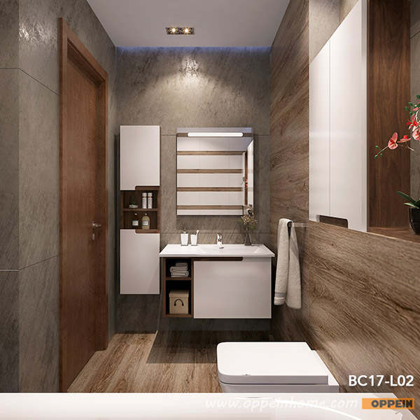 Online Modern White Lacquer Wall Mounted Bathroom Cabinets With Mirror Bc17 L02 Aliexpress Mobile