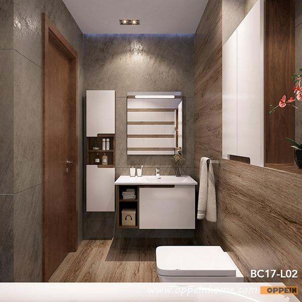 Moderne Witte Lak Wandmontage Badkamer Kasten met Spiegel (BC17 L02 ...