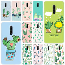 Hot Cactus Leaves Plants Soft Silicone Fashion Transparent Case For OnePlus 7 Pro 5G 6 6T 5 5T 3 3T TPU Cover