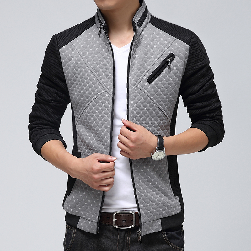 1d5a2e9c5fa 2015 Spring New Men Jacket Fashion Stitching Dot Coat Man Korean Slim Fit  Luxury Men s Outdoor Casual Jacket 2Colors-in Jackets from Men s Clothing  on ...