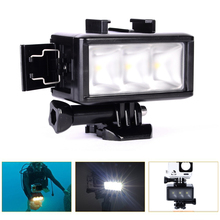 For GoPro Accessories Led Underwater Video Light Diving Waterproof Lamp for GoPro Hero5 4 3 SJ4000 Xiaomi Yi Action Camera