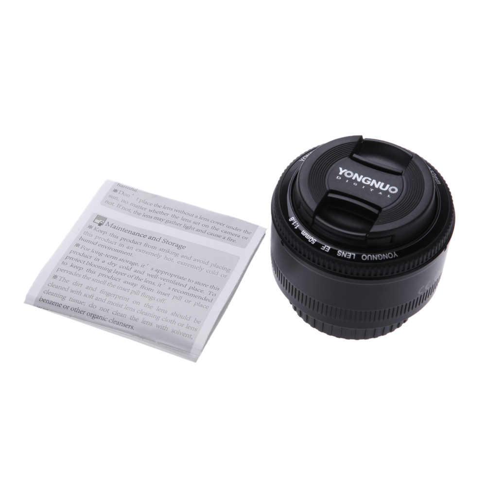 YONGNUO YN50mm f1.8 automatyczne ustawianie ostrości obiektyw do modeli canon EOS 60D 70D 5D2 5D3 600d lustrzanki cyfrowe obiektyw YN EF 50mm f/1.8 soczewki af