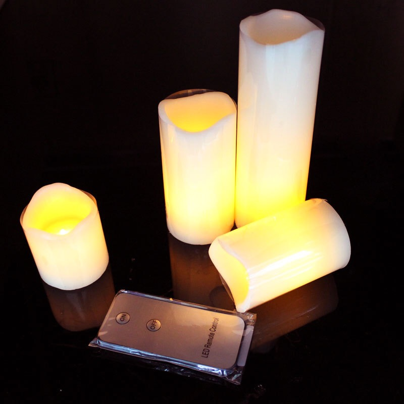 Home Decor Persevering Set Of 3pcs Ivory Moving Wick Flameless Flickering Led Pillar Candle Set Remote Controlled Wedding Home Bar Table Decor-amber Candles & Holders