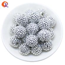 R44 Design Cordial 20MM 100 Pcs/Lot Rhodium grosse résine strass perles grosses perles pour collier faisant des CDWB 516033