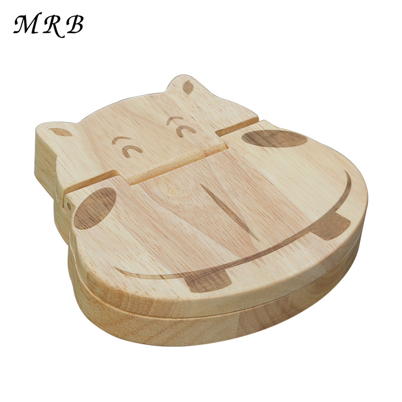 Wooden toy hippo baby teeth box shape Tooth Box organizer for Baby Save Milk teeth Wood Storage box great 3-6YEARS Montessori neje wooden useless fully assembled machine box toy brown 2 x aa