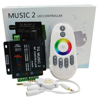 LED Controler 24 Keys 12 24V Wireless IR Remote Control LED Music Sound Control RGB led Controller Dimmer for RGB LED Strips