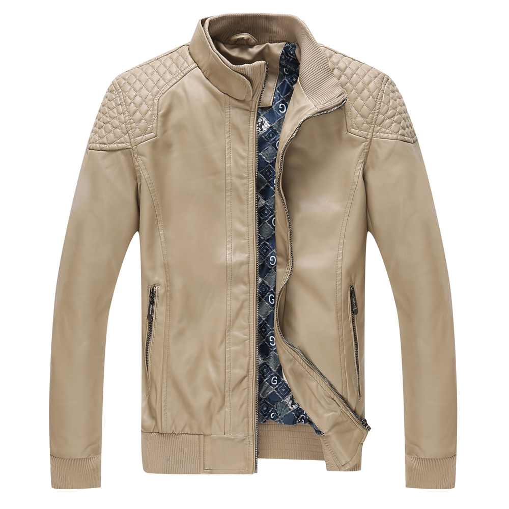 New Arrivals Winter Autumn Leather Jacket Men Motorcycle Leather Jackets Overcoat Jaqueta High Quality