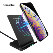10W Qi Fast Wireless Charger For iPhone X XS Max XR 8 Samsung Note 9 8 S9 S8 Charger USB Power Charging Pad Docking Dock Station stylish charging docking station w usb cable for samsung galaxy note 3 n9000 black