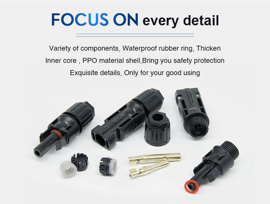 EASUN POWER MC4 Connector Solar Connector 5 Pairs PV Solar Panel Connectors Male & Female IP67 TUV 1000Vdc UL 600Vdc Solar Power_02