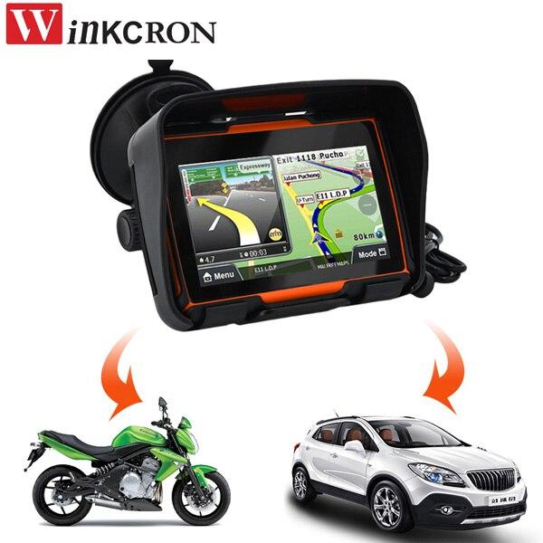 4.3 GPS приборы для мотоциклов навигации 8 ГБ 256 МБ FM для IPX7 Водонепроницаемый Bluetooth автомобиля GPS навигатор трекер Бесплатная 2017 Карты
