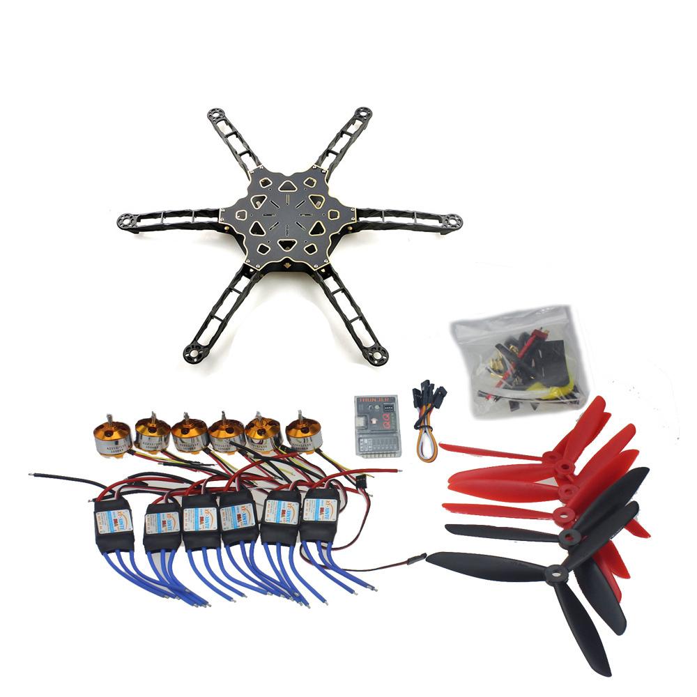 DIY FPV Muticopter Drone QQ SUPER Flight Control Totem Q450 Alien Across Carbon Fiber RC Helicopter Motor ESC F11798-D drone with camera rc plane qav 250 carbon frame f3 flight controller emax rs2205 2300kv motor fiber mini quadcopter