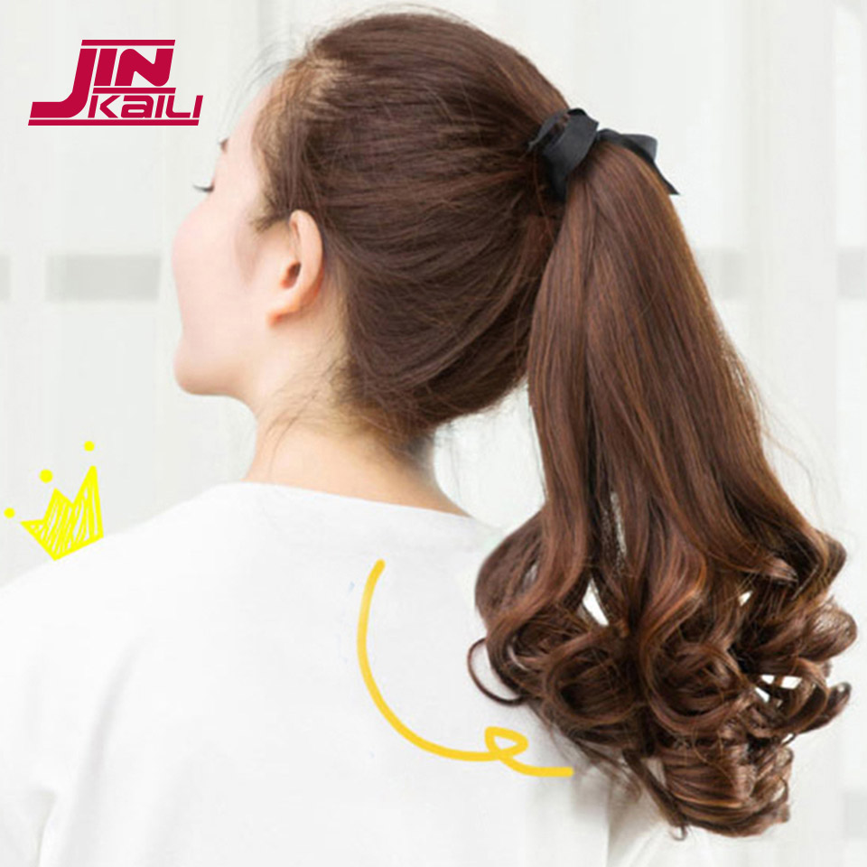 JINKAILI WIG Long Wavy Ponytail Lovely Hair Extensions Long Wavy Hair Extensions New Women Girls Cute Synthetic
