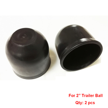 ABS 2″ 50mm Trailer Ball Protection Cap 2pcs/lot HitchBall Cover Tow-Ball Cap Trailer Protection Ball Cover