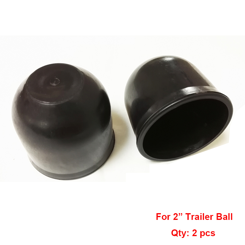 ABS 2 50mm Trailer Ball Protection Cap 2pcs/lot HitchBall Cover Tow-Ball Cap Trailer Protection Ball Cover